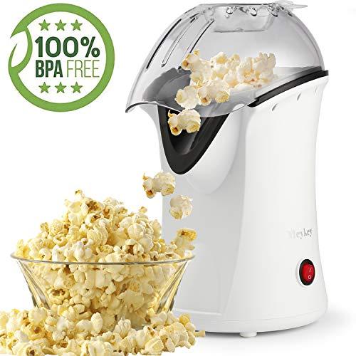 Popcornmaschine, Popcorn Maker mit Abnehmbarem Heizfläche Antihaftbeschichtet, Bietet Große Deckel für Servierschüssel, 1200W (Color1)