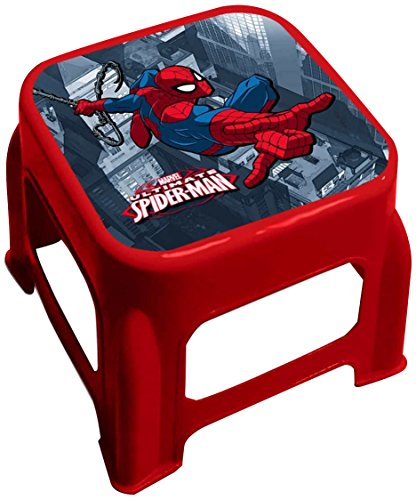 Star Licensing 45476 Disney Spiderman Tabouret, Multicolore, 24.5 x 24.5 x 20 cm