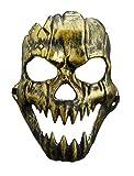 Preis am Stiel Halloween Maske Knochenmann | Kostüm für Erwachsene | Party | Grusel | Totenkopf | Schädel | Karneval | Fasching | Skelett | Halloween-Maske