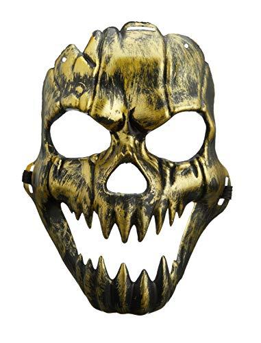 ween Maske Knochenmann | Kostüm für Erwachsene | Party | Grusel | Totenkopf | Schädel | Karneval | Fasching | Skelett | Halloween-Maske ()