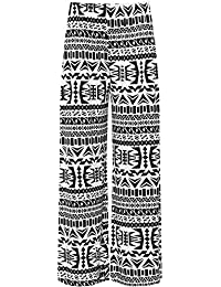 WearAll - Grande taille floral imprimé pantalons jambe large palazzo - Pantalons - Femmes - Tailles 44 à 54