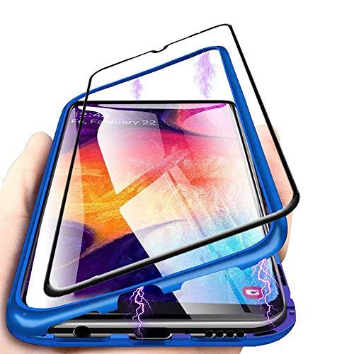 c817c077c01 Funda Samsung Galaxy A50,[+1 Unidades Vidrio Templado] Adsorcion magnetica  Tech Funda