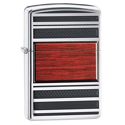 51OO%2BqeertL. SS500  - Zippo Steel and Wood Windproof Pocket Lighter - High Polish Chrome