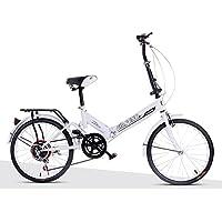 XQ- XQ-TT-611 20 Zoll Variable Geschwindigkeit Faltbare Fahrrad Dämpfung Fahrrad Erwachsene Männer Und Frauen Student Auto WEISS