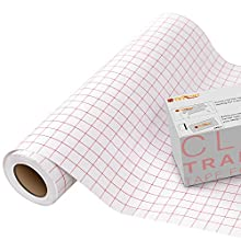 """Zwanzer Transfer Tape for Vinyl - 12"""" x 15 Feet (30.5 * 457cm) w/Red Alignment Grid Medium Tack Vinyl Transfer Tape for Cricut Silhouette Cameo Self Adhesive Vinyl for Decals,Signs, Windows, Stickers"""