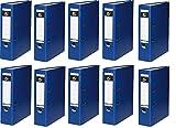 10 Ordner Blau Kunststoff 8cm Aktenordner 80mm DIN A4 Büro von