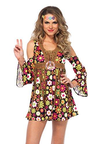 Leg Avenue 85610 - Starflower Hippie Damen kostüm, Größe S (Mehrfarbig)