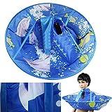 Demiawaking Bambini Infant Adulti Capo Pieghevole del Mantello di Taglio dei Capelli Accessori per Capelli Blu