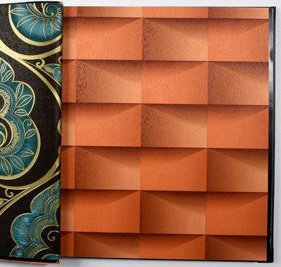 Uccun ktv bar club 3d sfondo goffrato moderna moda torcia elettrica in vinile carta di parete per le pareti impermeabili in pvc fondale wall papers 3 d, arancio, 53cm x 10m