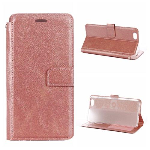 iPhone 6 Plus/6S Plus Coque, Voguecase Étui en cuir synthétique chic avec fonction support pratique pour Apple iPhone 6 Plus/6S Plus 5.5 (Rétro rouge)de Gratuit stylet l'écran aléatoire universelle Rétro rose or