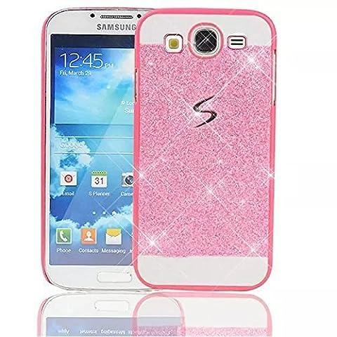 Sunroyal Samsung Galaxy S3 i9300 / S3 Neo i9301 Handy Hülle Schutz Bling Hart Case Harte Glitzer Diamant Luxus Gel Crystal Kristall Zurück Hard Back Cover Rückseite, Rosa