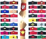 36 Pack Superhero Bracciale per Bambini Ragazzi e Ragazze Supereroe Compleanno Feste Bomboniere, Supereroe Bracciale in feltro, Accessori cinturino Cinturino da polso