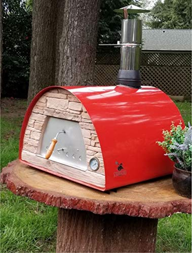 Maximus Prime Red Commercial Wood-Fired Bread, Meat, Pizza Fish Outdoor Oven Real Wood Real Flavor Escape The Indoors TM