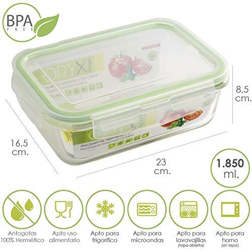 Vidrio Borosilicato 700ml // 1000ml // 1300ml 5 Pcs Recipientes con Tapa Herm/ético de Madera Bambu para Conservar Alimentos EZOWare Tarros de Almacenamiento Apilables Multi-Colores