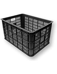 Basil Bicycle Box Crate Black black Size:50 (EU) by Basil