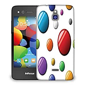 Snoogg Colorful Balls Designer Protective Phone Back Case Cover For Infocus M2