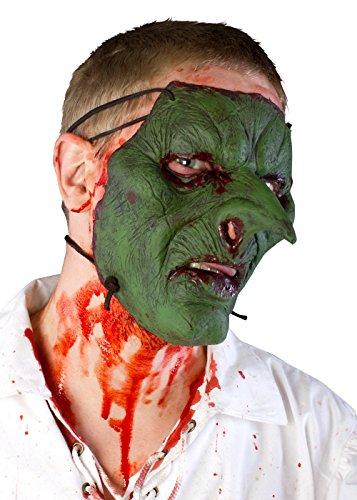 e LARP Goblinmaske Goblingesicht aus Latex Faschingskostüm Halloween (Goblin Kostüme Erwachsene)