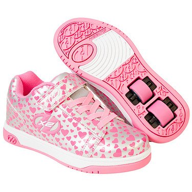 Heelys X2 Dual Up, Chaussures de Tennis Fille Argent (Silver / Hearts)