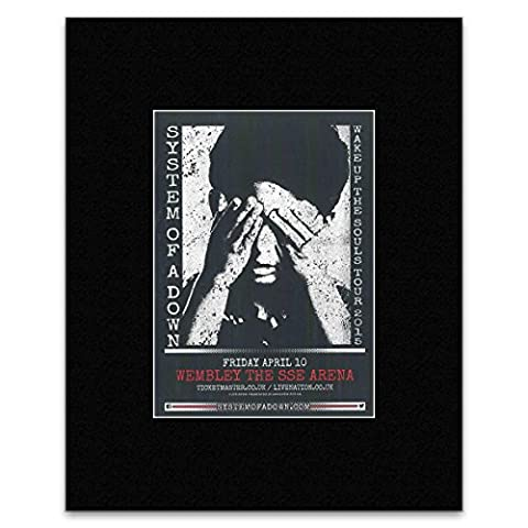 SYSTEM OF A DOWN - Wembley The SSE Arena Matted Mini Poster - 28.5x21cm