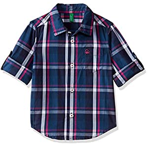 United Colors of Benetton Baby Boys' Checkered Regular Fit Shirt