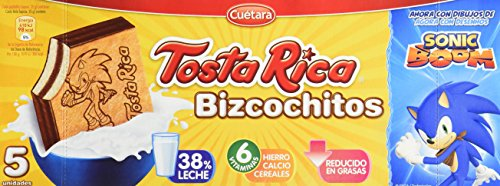Tosta Rica - Galletas Bizcochitos - 5 Galletas - 125 g - [Pack de 9]