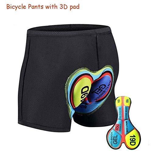 B5645ellsOutdoor Cycling Bicycle MTB Fahrrad atmungsaktiv stoßfest Hosen Shorts Unterwäsche - grün XL