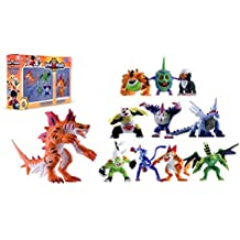 Invizimals - Pack 5 Figuras + Tigershark (varios modelos)