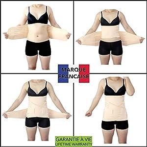 Takit CM – 3 In 1 Rückbildungsunterstützende Bauchbinde – Figurformendes Bauchband Nach Der Geburt Für Bauch, Taille Und Becken – Formender Bauchweggürtel