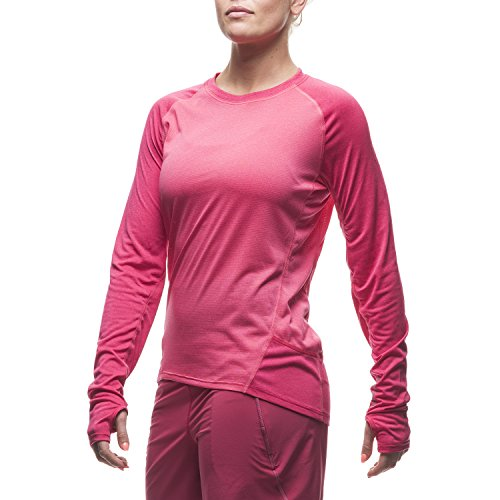 Houdini W S Vapor Crew T-shirt Rose - Echi Pink/Ruby Red