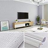 lsaiyy Papel Pintado de PVC Impermeable Autoadhesivo Papel Pintado de Dormitorio Pigmento Puro Color renovación de Muebles