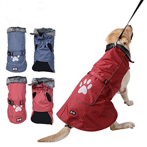 sosunny Winter Warm Weste Pet Hunde Kleidung strapazierfähigem Wasserdicht Reflektierende Jacke Mantel Sport Kleidung für kleine medium Große (Besten Kostüme Am Wetter Kalten)