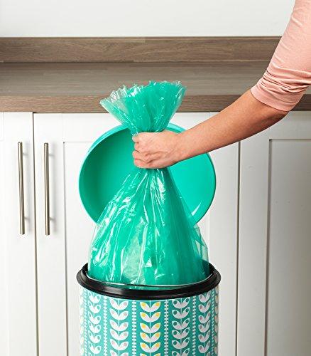 Salter BW04606 Retro Leaf 30 Litre Turquoise Kitchen Bin