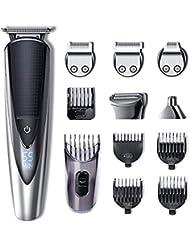 HATTEKER Hair Clipper Cordless Hair Trimmer Beard Trimmer Shaver Set Body Trimmer Nose Trimmer Hair Cutting Kit for Men USB