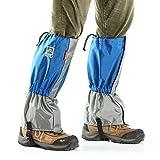 Anself Unisex Outdoor Gamasche Wasserdicht Winddicht Gaiter Beinschutzbügel für Skilaufen Wandern Klettern