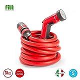 YOYO 15mt - il tubo estensibile, leggero e robusto con pistola, connettori con attacco rapido e aquastop, per uso in giardino, in casa, in viaggio. YOYO, quello rosso prodotto in Italia.