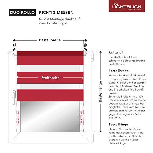 Lichtblick Duo-Rollo Klemmfix, 60 cm x 150 cm (B x L) in Grün, ohne Bohren, Doppelrollo für Fenster & Türen, moderner Sichtschutz, innovative Kombination aus Rollo & Jalousie - 5