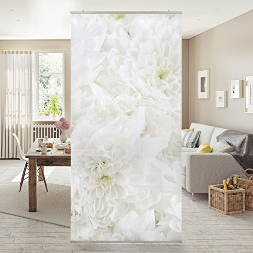Panel japones Dahlia flower sea white 250x120cm |...