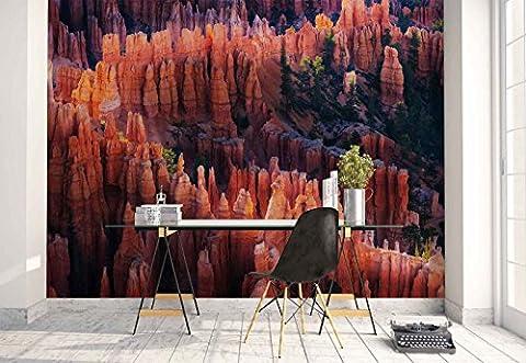 Vlies Fototapete Fotomural - Wandbild - Tapete - Bryce Canyon Nationalpark - Thema Berge - MUSTER - 104cm x 70.5cm (BxH) - 1 Teilig - Gedrückt auf 130gsm Vlies - 1X-1134997VEM