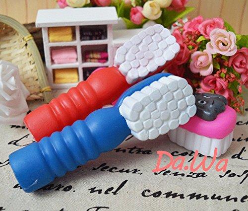 Da.Wa Mini Zahnbürste Form Hund Kaut Hundespielzeug Sprachspielzeug,Gummi,Zufall Farbe - 6