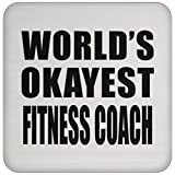 Designsify World 's Okayest Fitness Coach–Untersetzer, Untersetzer, Beste Geschenk für Geburtstag, Hochzeit, Jahrestag, Neues Jahr, Valentinstag, Ostern, Muttertag/Vatertag