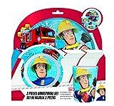 Feuerwehrmann Sam Kinderservice mit Teller, Müslischüssel und Trinkbecher aus Melamin Vergleich
