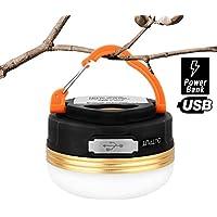 HiHiLL Lampade da Campeggio, Lanterna LED Ricaricabile, Esterna Portatile Resistenza alla Pioggia con 3 Modalità per Pesca Trekking Escursione e Emergenza