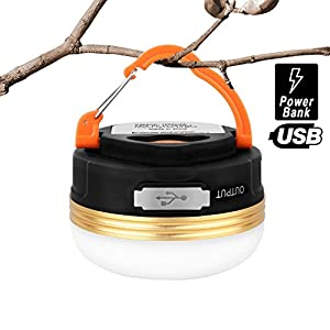 HiHiLL Lampade da Campeggio, Lanterna LED Ricaricabile, Esterna Portatile Resistenza alla Pioggia con 3 Modalità per… 7 spesavip