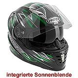 ROCC 483 Integralhelm, Farbe schwarz-grün, Größe M