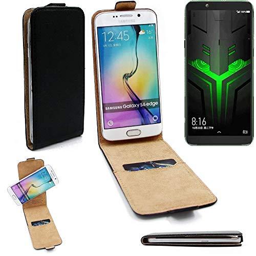 K-S-Trade® Für Xiaomi Blackshark Helo Flipstyle Schutz Hülle 360° Smartphone Tasche, Schwarz, Case Flip Cover Für Xiaomi Blackshark Helo
