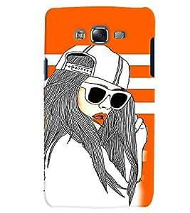PrintVisa Stylish Cool Girl Fashion Cool 3D Hard Polycarbonate Designer Back Case Cover for Samsung Galaxy J7