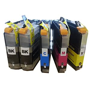 5 XL Colour Direct Compatible Ink Cartridges Replacement For Brother LC123 DCP-J132W DCP-J152W DCP-J552DW MFC-J650DW DCP-J752DW DCP-J4110DW MFC-J870DW MFC-J4410DW MFC-J4510DW MFC-J4610DW MFC-J4710DW MFC-J470DW MFC-J6720DW MFC-J6920DW MFC-J6520DW MFC-J870DW Printers