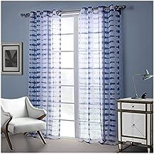 darget voilage souple oeillets rideau bleu dcoration de fentre pour chambre enfant salon