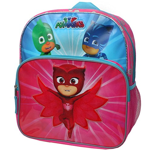 disney-junior-pj-masks-owlette-gekko-and-catboy-save-the-day-14-inch-backpack-with-side-mesh-pockets