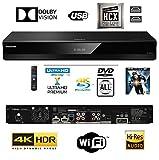 Panasonic DP-UB820EBK Smart 3D 4K UHD Upscaling Blu-Ray /DVD (MULTI REGION) Player with High Resolution Audio, Ultra HD Premium Certified – WiFi -TWIN HDMI/OPTICAL Connection.